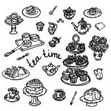 Vector Hand drawn illustration of kitchen utensils Stock Image