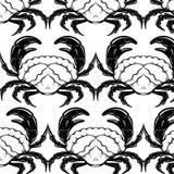 Vector hand drawn illustration of triton , mollusk Nautilus,  crab Royalty Free Stock Photography