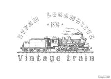 Illustration of Vintage train Royalty Free Stock Images