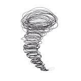 Vector hand-drawn illustrations. Cyclone tornado Stock Image