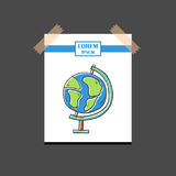 Vector hand drawn isolated globe Stock Photography