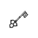 Vector hand drawn key illustration Stock Photography