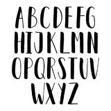 Vector hand drawn latin alphabet vector illustration