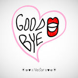 Vector hand-drawn with letter Good bye Stock Image