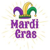 Vector hand drawn lettering illustration eps10 for Mardi gras carnival vector illustration