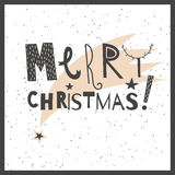 Vector hand drawn lettering sign Merry Christmas Stock Photo