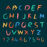 Vector of Hand drawn letters Alphabet Set .colourful Stock Images