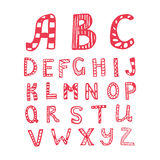 Vector hand drawn letters Stock Images