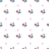 Vector hand drawn lollipop seamless pattern Royalty Free Stock Photography