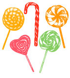 Vector hand drawn lollipop set Royalty Free Stock Images
