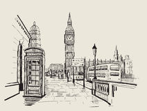 Vector hand-drawn London Stock Photos