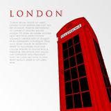 Vector hand drawn london telephone box Stock Photo