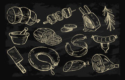 Vector hand drawn Meat Royalty Free Stock Photos