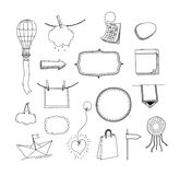 Vector hand drawn message frames set royalty free illustration