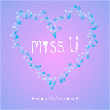 Vector hand drawn miss you card, Illustration EPS10 Stock Photos