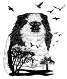 Vector Hand drawn Monkey marmoset for your design Royalty Free Stock Photos