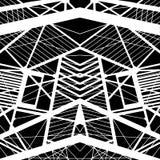 Vector hand-drawn naadloos patroon met abstract stedelijk ornament vector illustratie