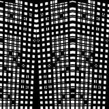 Vector hand-drawn naadloos patroon met abstract stedelijk ornament Stock Afbeelding