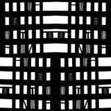 Vector hand-drawn naadloos patroon met abstract stedelijk ornament Royalty-vrije Stock Afbeeldingen