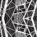 Vector hand-drawn naadloos patroon met abstract stedelijk ornament Royalty-vrije Stock Fotografie
