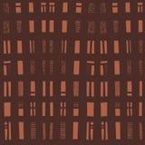 Vector hand-drawn naadloos patroon met abstract stedelijk ornament Stock Fotografie