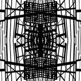 Vector hand-drawn naadloos patroon met abstract stedelijk ornament Royalty-vrije Stock Afbeelding