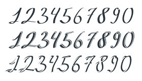 Vector hand drawn numbers Stock Photos