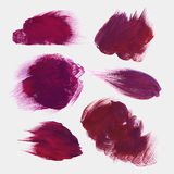 Vector hand drawn paint stains Royalty Free Stock Photography