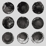 Vector hand drawn paint stains grunge set Stock Photo