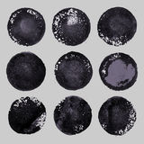 Vector hand drawn paint stains grunge set Stock Images