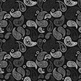 Vector hand drawn paisley seamless pattern Royalty Free Stock Photo