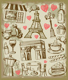 Vector hand drawn paris illustration Royalty Free Stock Images