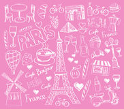 Vector hand drawn paris illustration Royalty Free Stock Image