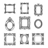 Vector hand drawn picture frames set. Sketch Stock Photography