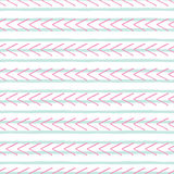Vector hand drawn pink and blue geometric seamless pattern royalty free illustration
