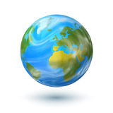 Vector hand drawn planet Earth isolated on white Royalty Free Stock Photography