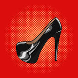 Vector hand drawn pop art illustration of an elegant woman shoes Royalty Free Stock Images