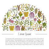 Vector hand drawn porridge and cereals Royalty Free Stock Photos