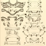 Vector hand drawn ribbons for design Stock Photo
