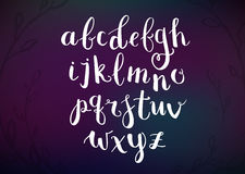 Vector Hand Drawn Script Alphabet. Letters Written with a Brush Royalty Free Stock Photography