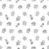 Vector hand drawn seamless pattern Royalty Free Stock Photo