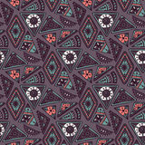 Vector hand drawn seamless pattern with tribal abstract elements vector illustration