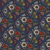Vector hand drawn seamless pattern with tribal abstract elements Stock Photography