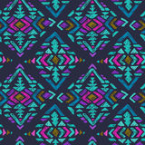 Vector hand drawn seamless pattern with tribal abstract elements Stock Image