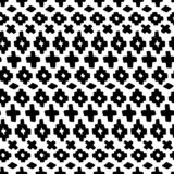 Vector hand drawn seamless tribal pattern stock illustration