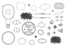 Hand drawn set of design elements Royalty Free Stock Photos