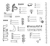 Vector hand drawn set of banners Royalty Free Stock Images