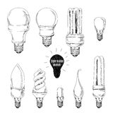 Vector hand drawn set. Sketches of different light Stock Photos