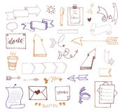 Vector hand drawn set on Stock Photos