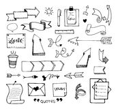 Vector hand drawn set on Royalty Free Stock Photos